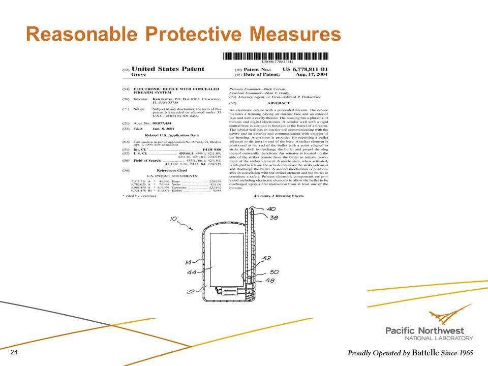 Reasonable Protective Measures 24
