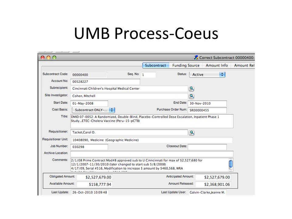UMB Process-Coeus
