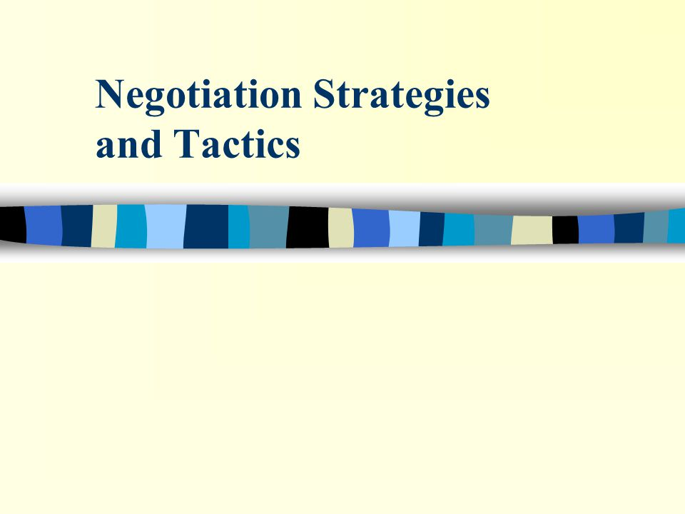 6.7_2 Evolution of Negotiation A Plan for Success n Give and TakeDr.