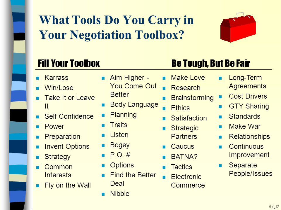 6.7_12 What Tools Do You Carry in Your Negotiation Toolbox.