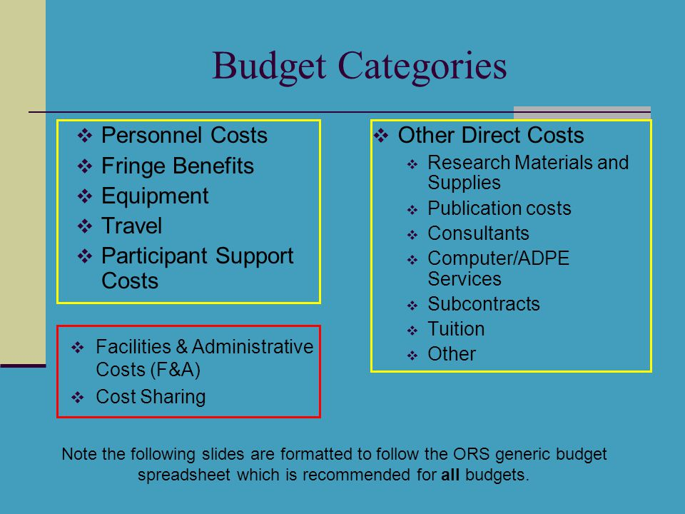 Arithmetic Fringe Benefit Rate GRA Tuition Rate F&A Rate MTDC Exclusions Budget Total Correct.