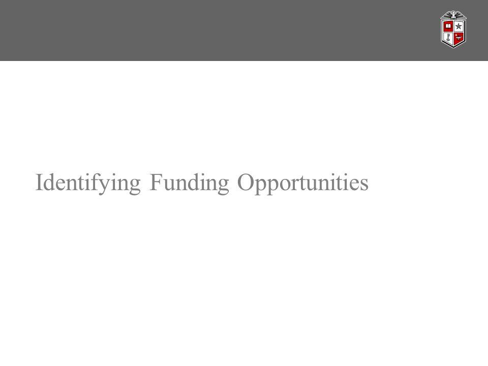 Identifying Funding Opportunities