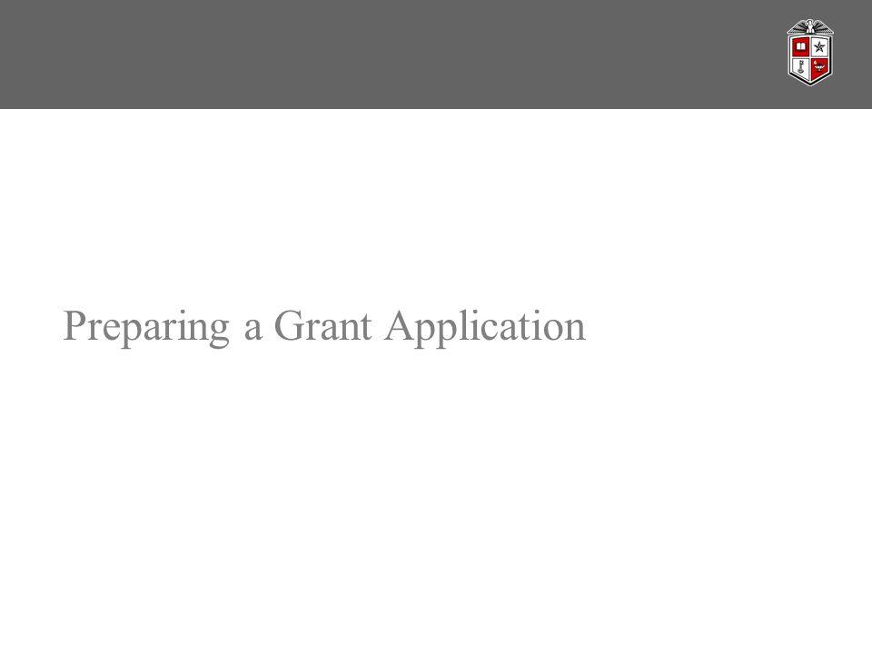 Preparing a Grant Application