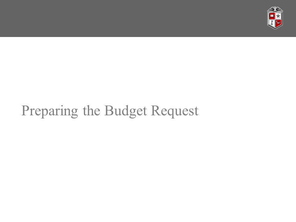 Preparing the Budget Request