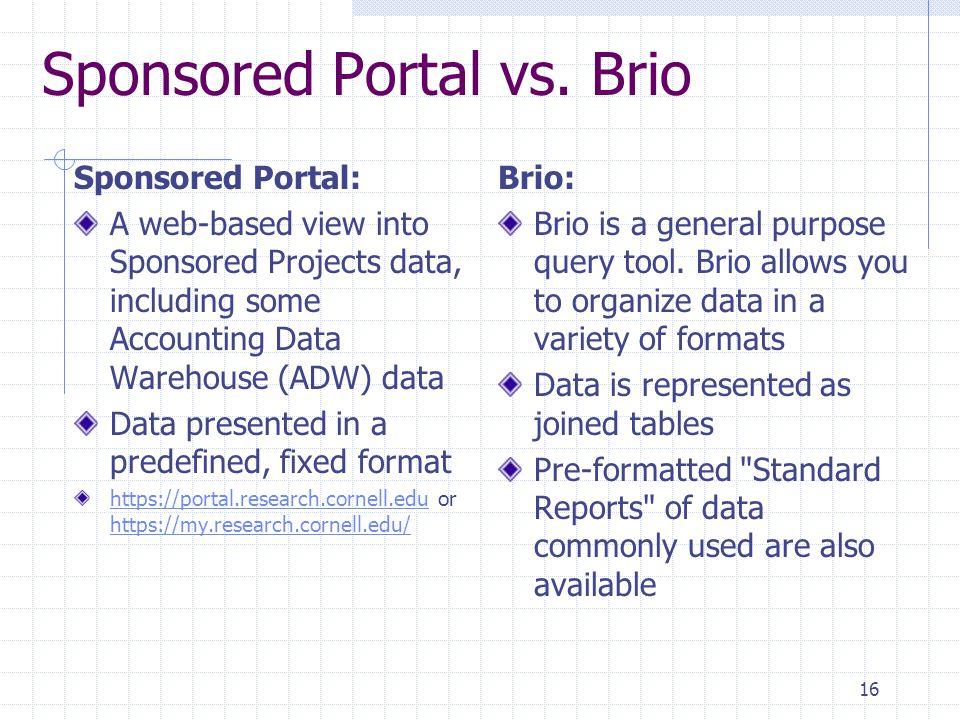 16 Sponsored Portal vs.
