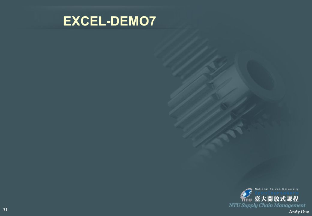 Andy Guo EXCEL-DEMO7 31