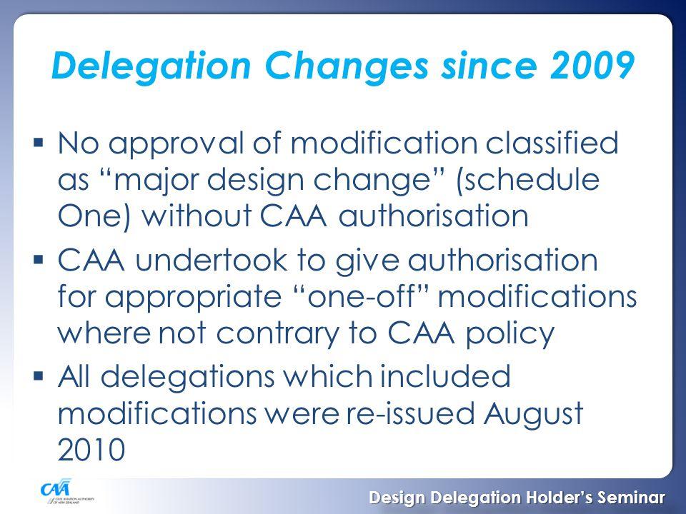 Authorisation Process Design Delegation Holder's Seminar Design Delegation Holder's Seminar
