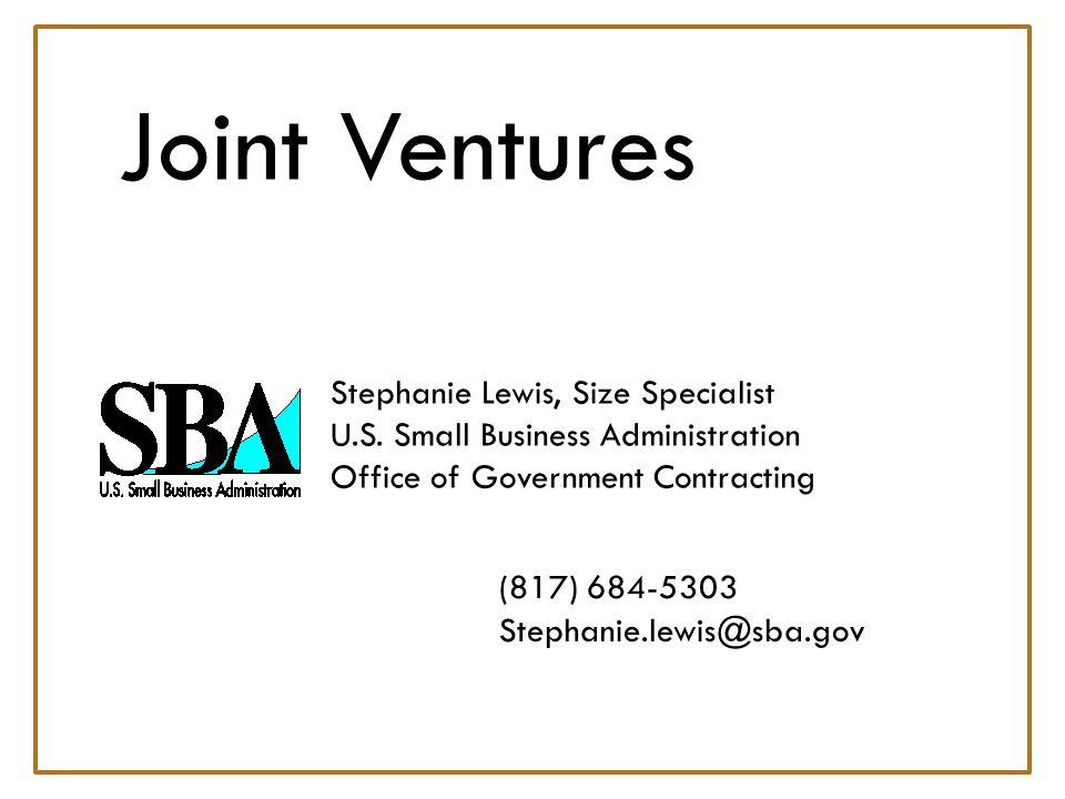 Joint Ventures Stephanie Lewis, Size Specialist U.S.