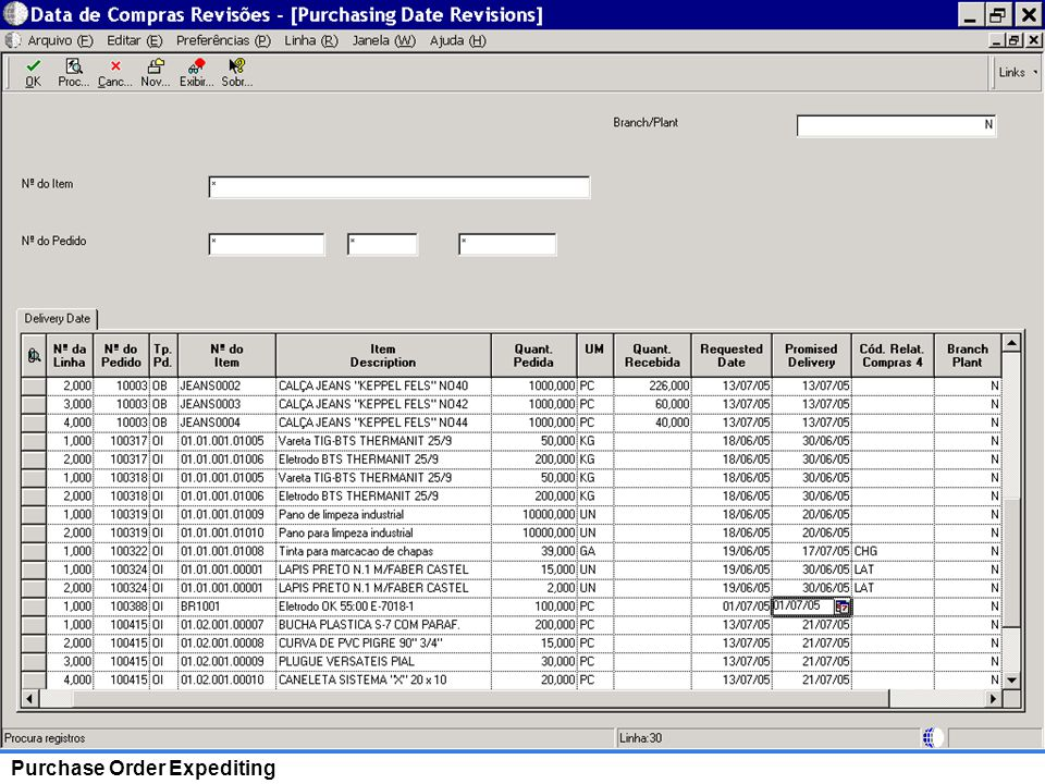 20 Purchase Order Expediting