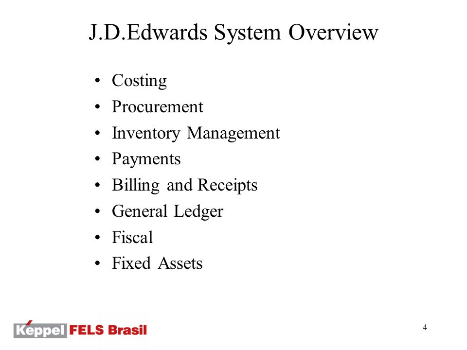 15 Procurement Process: Application Stock Requisition Purchase Order Receive Fiscal Accounts Payable Requisition and Tabulation outside JDE Enter, print and approve Stores receive, update project costs, update project warehouse, create Nota Fiscal information Verify tax information Update due date, print espelho Treasury Pay