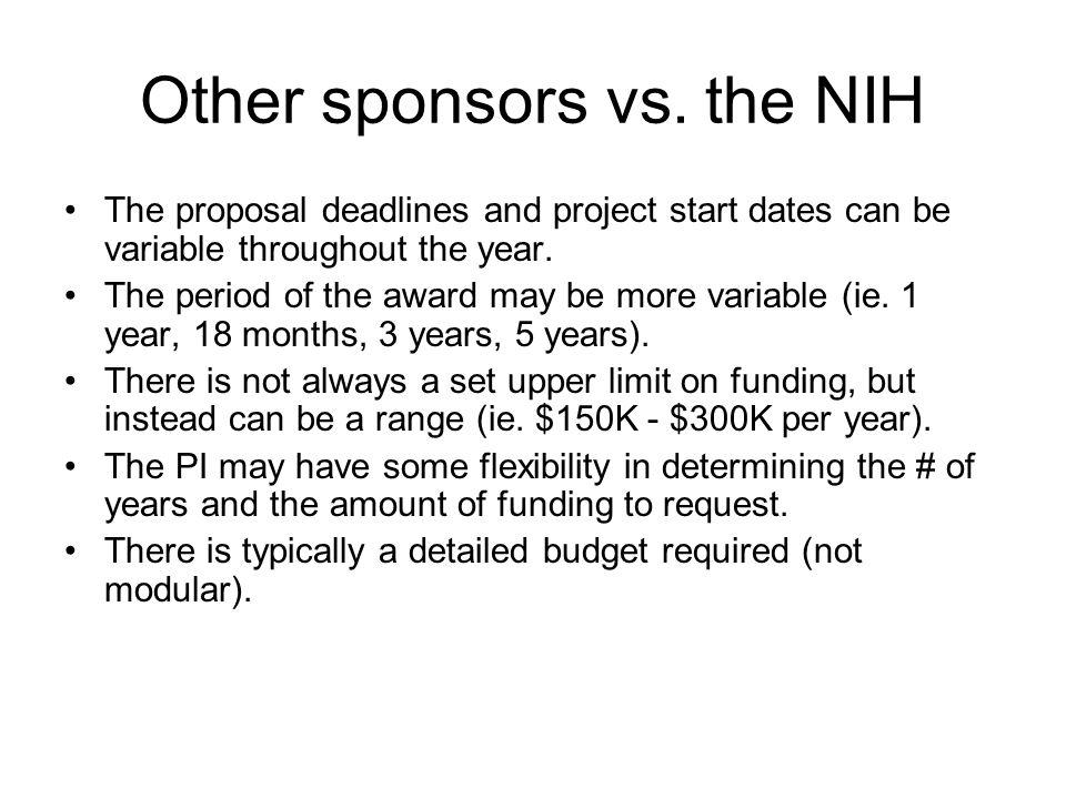 Other sponsors vs.