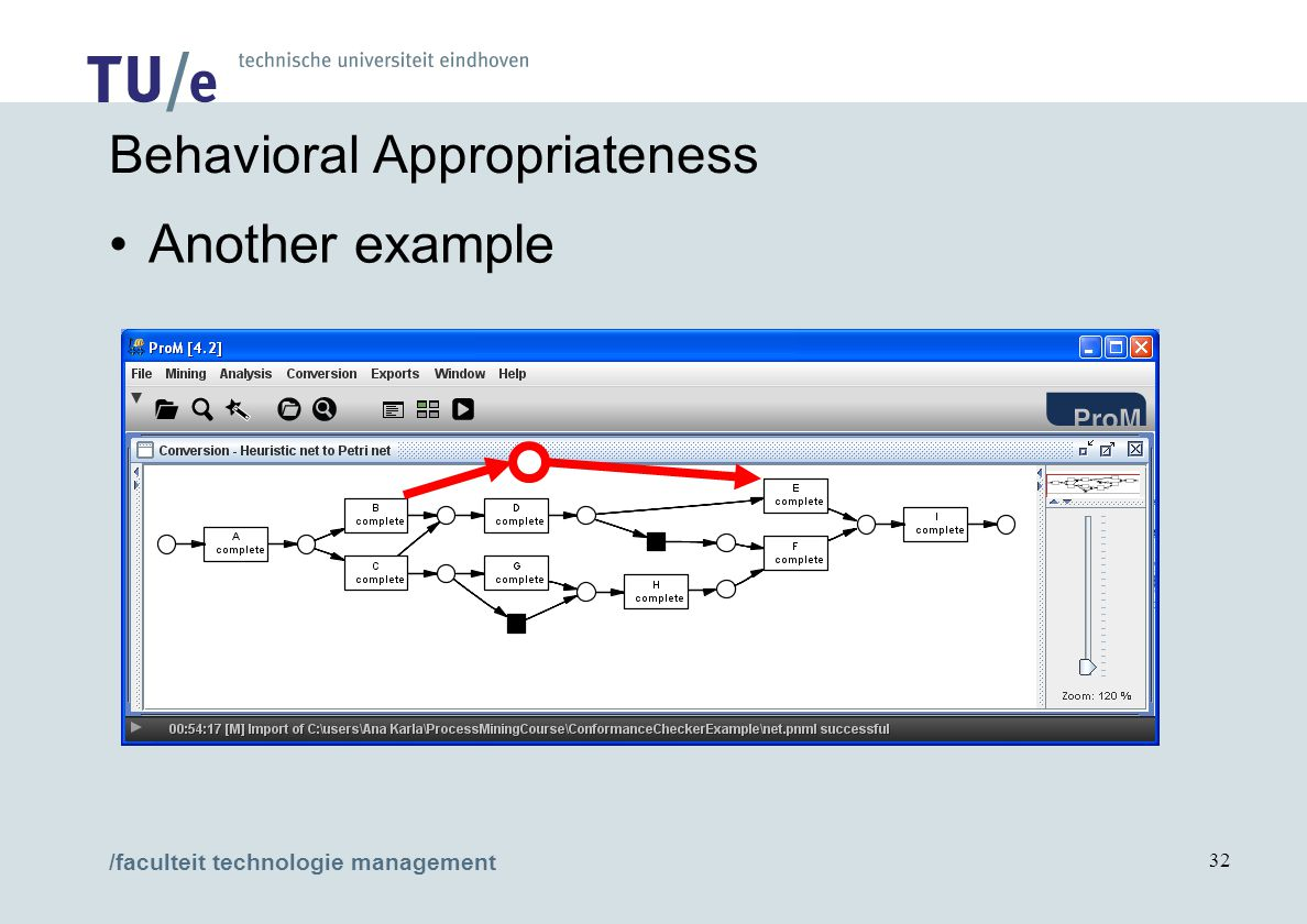 /faculteit technologie management 32 Behavioral Appropriateness Another example