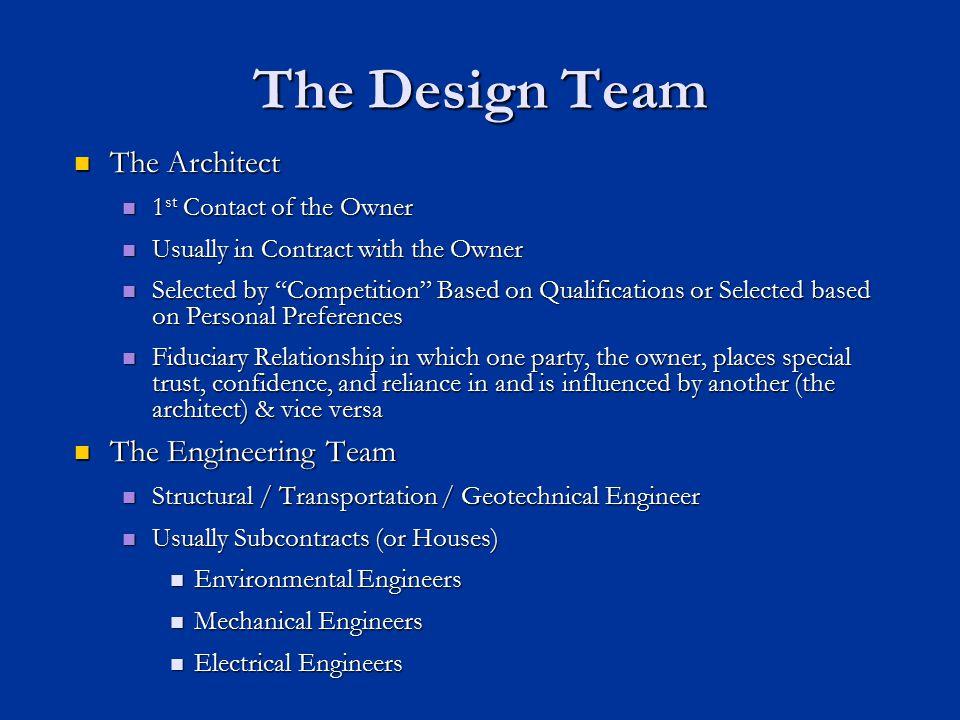 Traditional Design Bid Build Owner General Contractor Subcontractor A/E Contractual Relationship Communicational Relationship Source: Peña-Mora et al., 2002