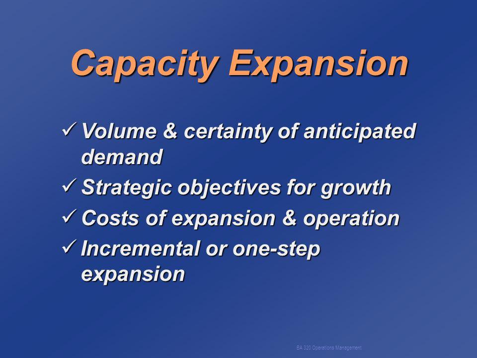 BA 320 Operations Management Level Production