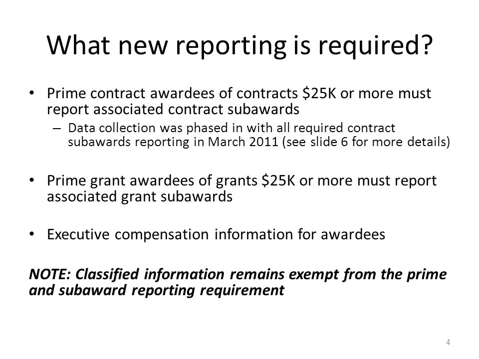 What new reporting is required.