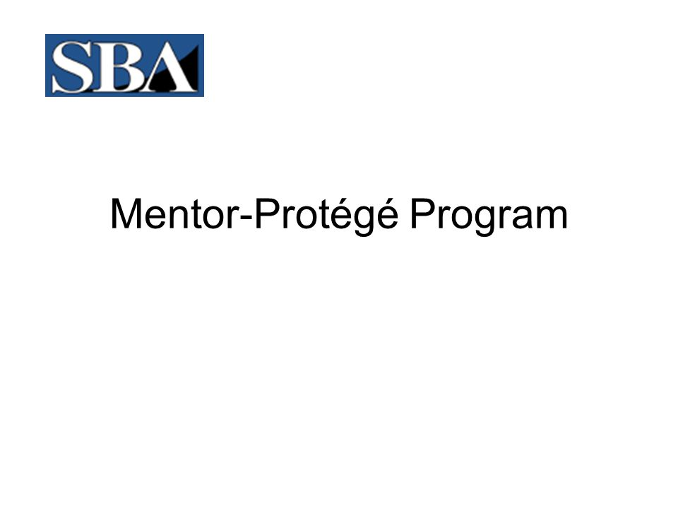 SBA Mentor-Protégé Program FWhat Type of Assistance Will the Mentor Provide the Protégé.