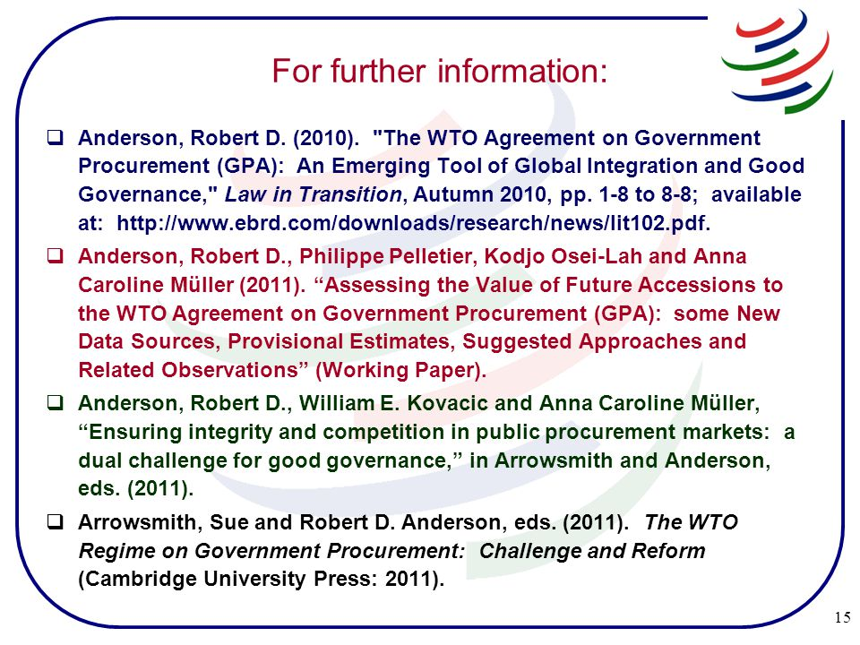 For further information:  Anderson, Robert D. (2010).