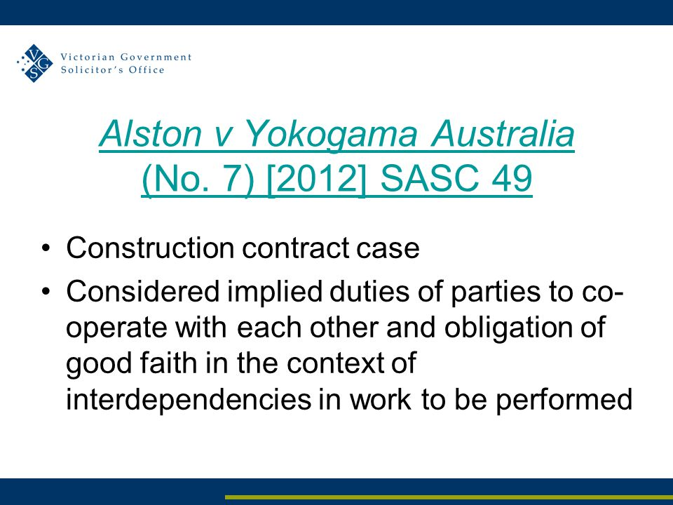 Alston v Yokogama Australia (No.