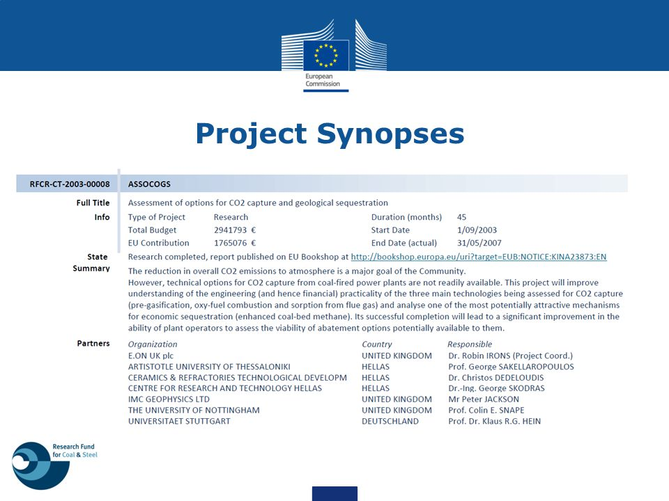 Project Synopses