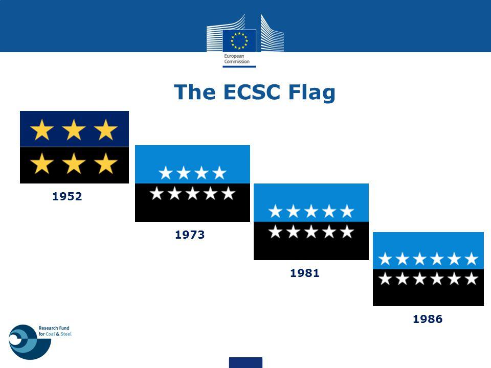 1952 1973 1981 1986 The ECSC Flag