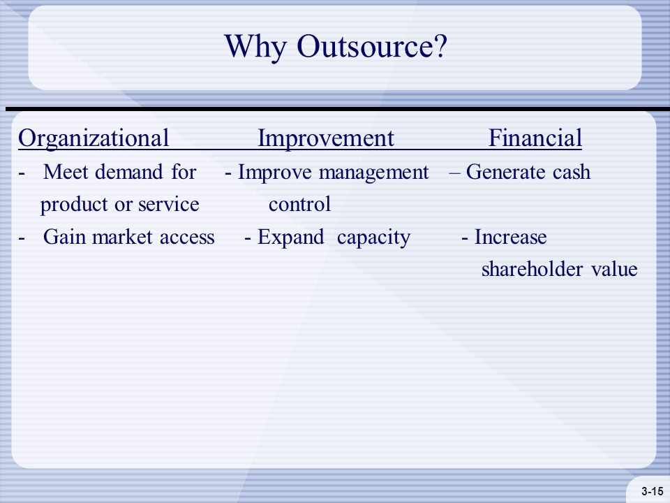 3-15 Why Outsource.