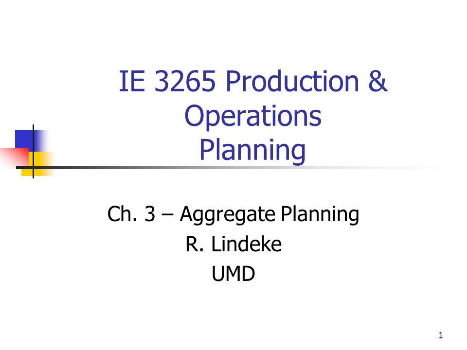 2 Aggregate Planning Strategies Should inventories be used to absorb changes in demand during planning period.