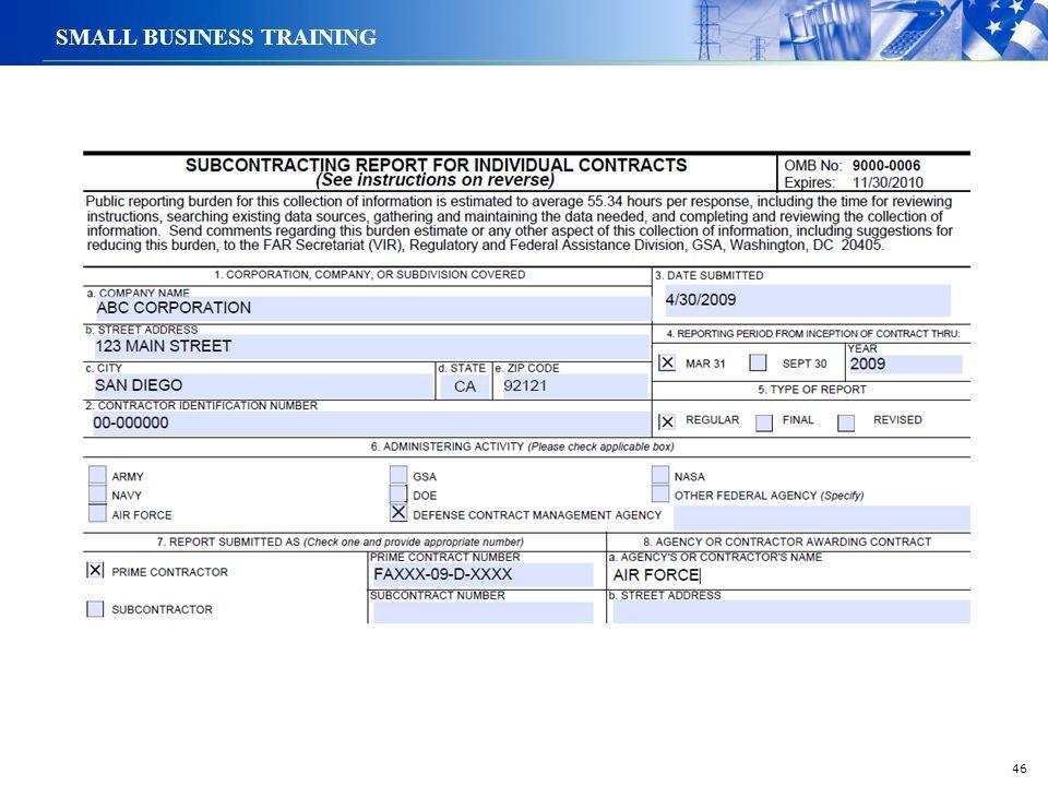 46 SMALL BUSINESS TRAINING