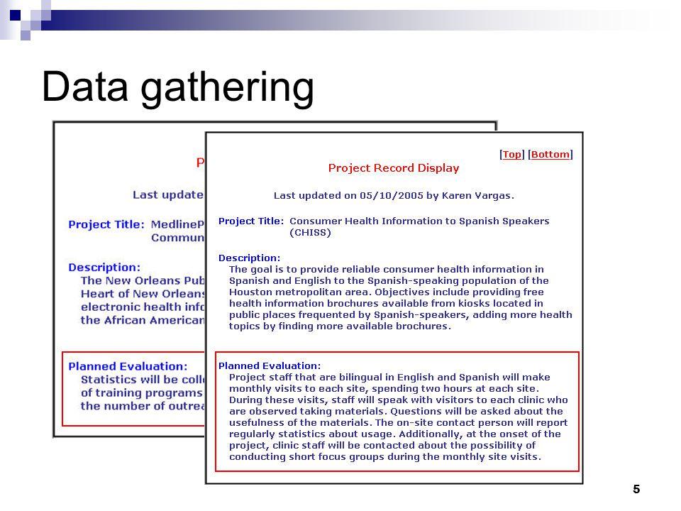 5 Data gathering