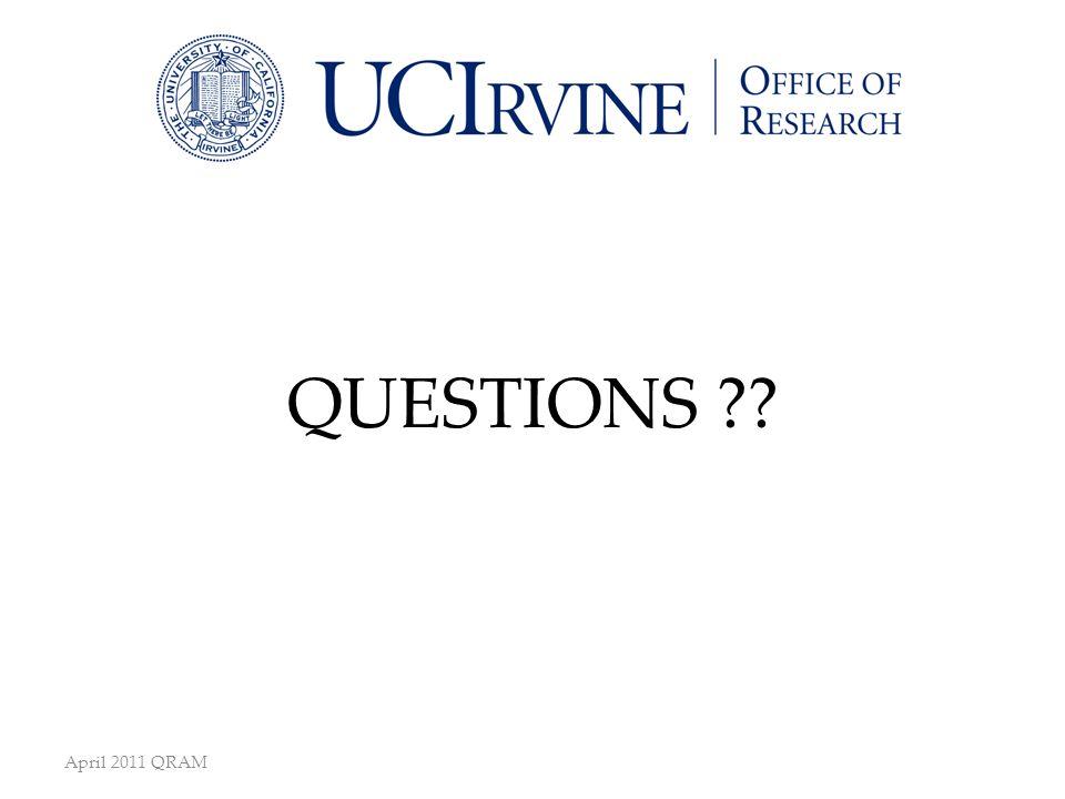 April 2011 QRAM QUESTIONS ??