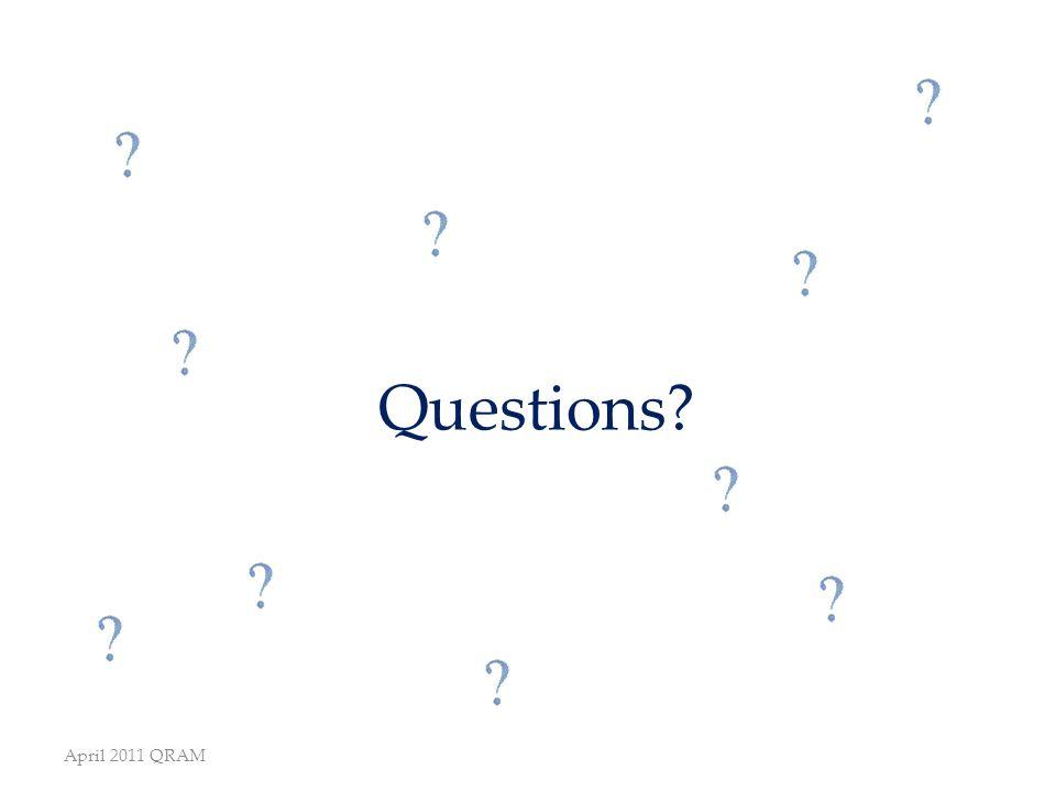 Questions April 2011 QRAM