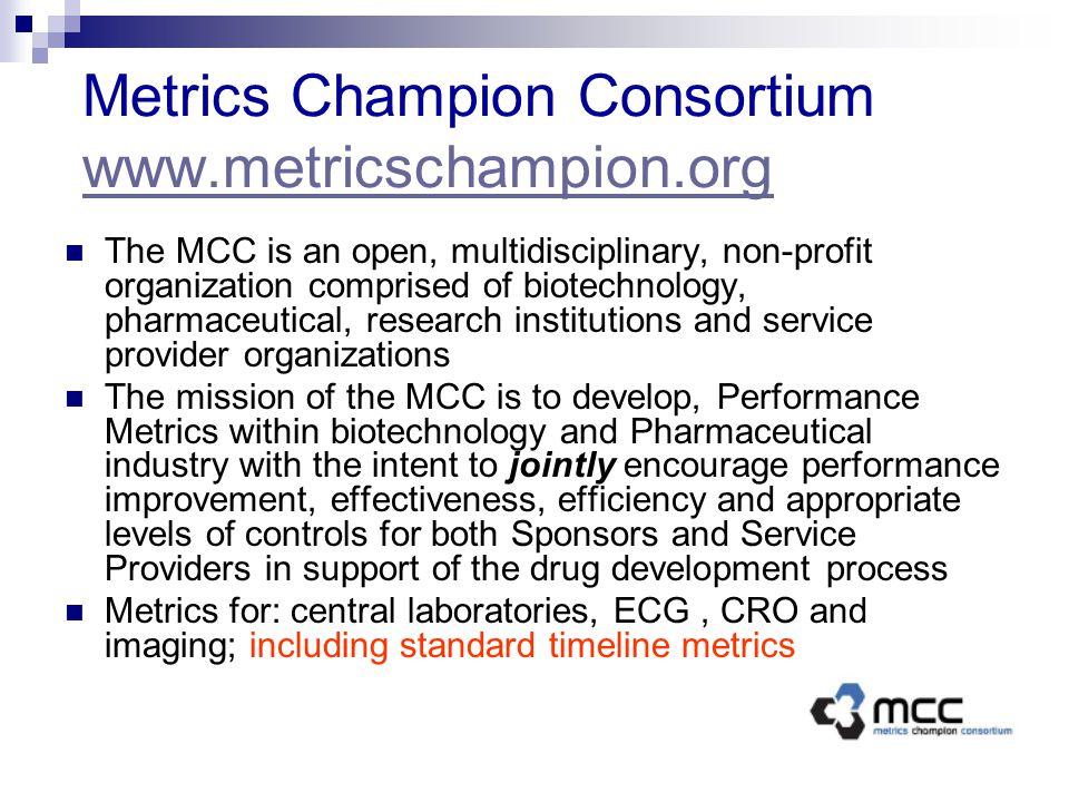 Metrics Champion Consortium www.metricschampion.org www.metricschampion.org The MCC is an open, multidisciplinary, non-profit organization comprised o