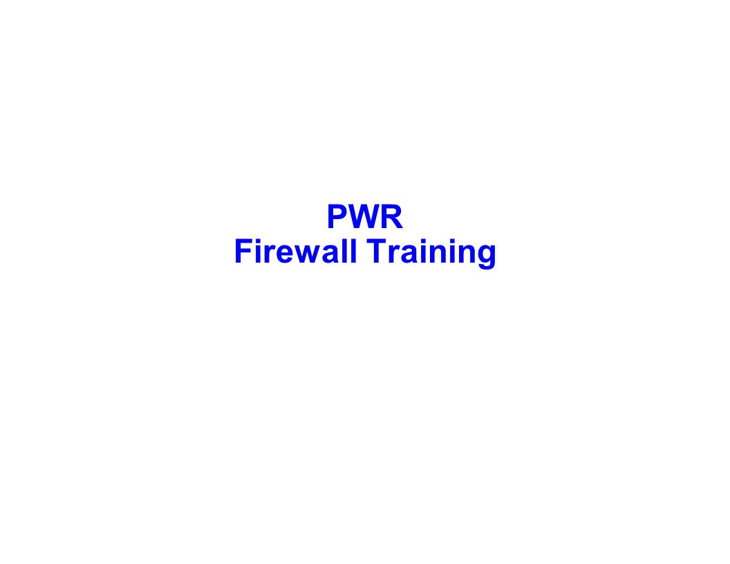 Capture Team Success PWR Firewall Training