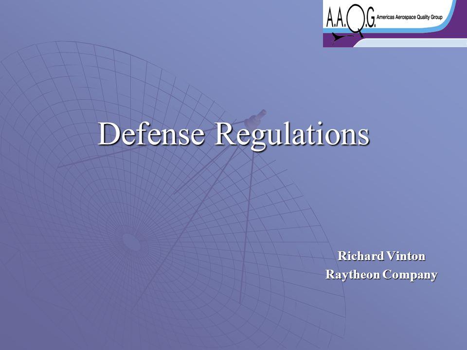 Defense Regulations Richard Vinton Raytheon Company