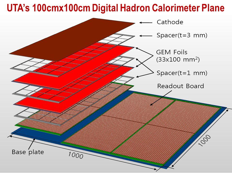 UTA's 100cmx100cm Digital Hadron Calorimeter Plane
