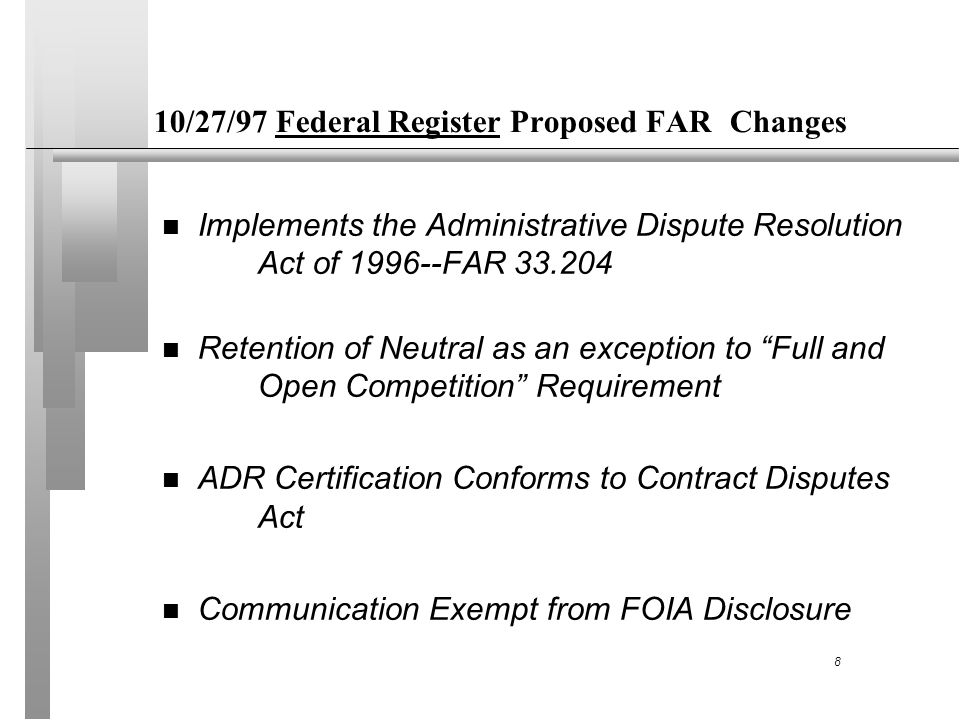 ALTERNATIVE DISPUTE RESOLUTION (ADR) IN GOVERNMENT CONTRACTING ...