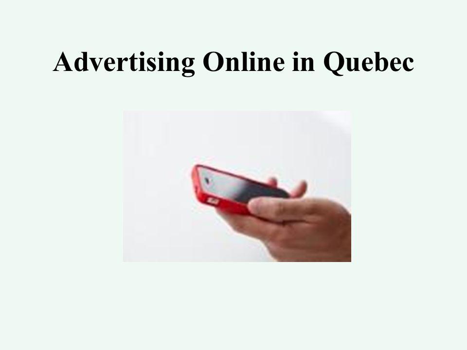 Advertising Online in Quebec