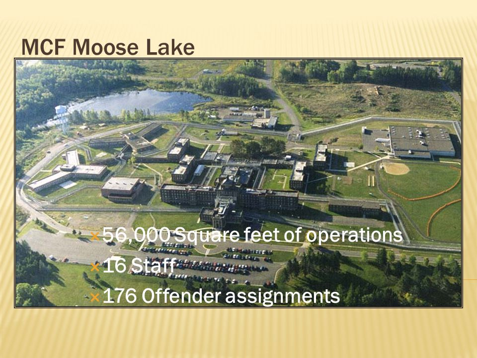 MCF Moose Lake Products and Services  Printing  Commercial Sewing  Sub-Contract Services