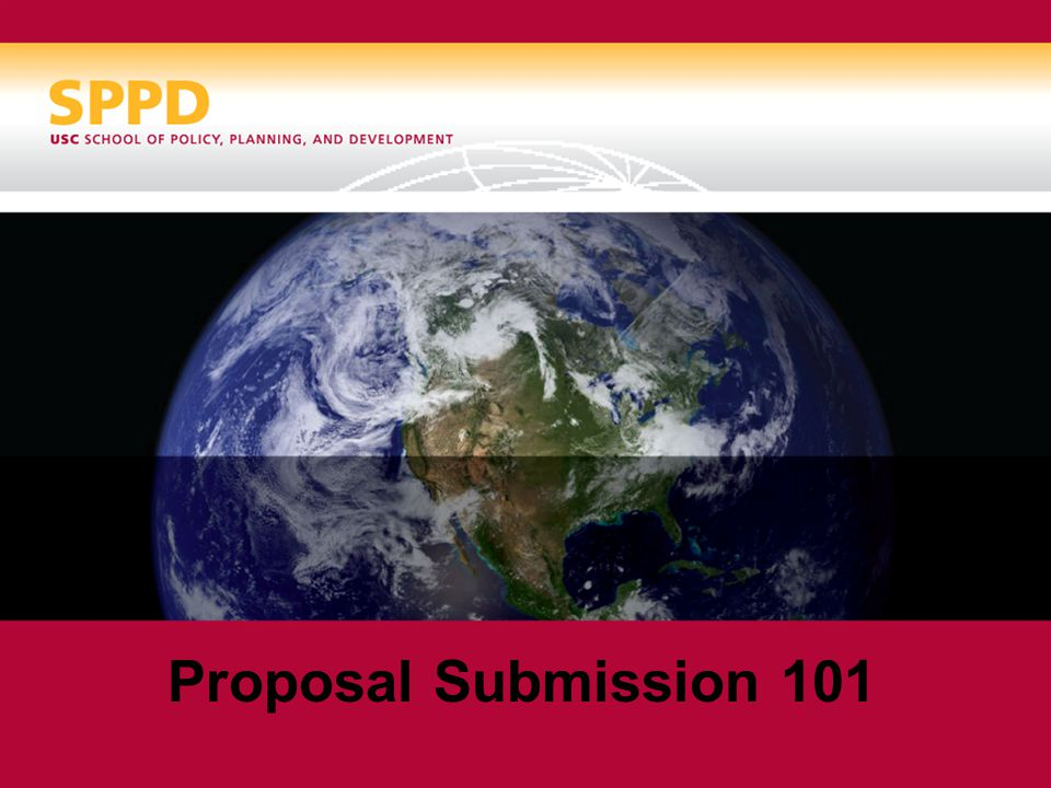Proposal Submission 101