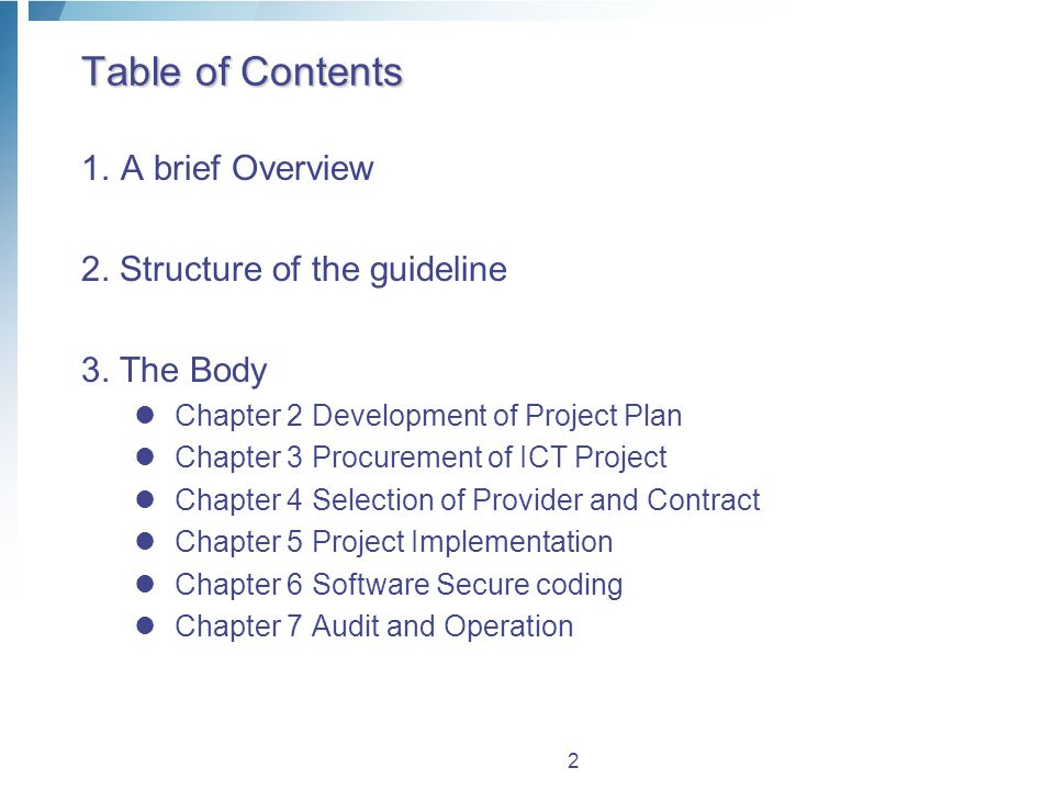 Overview  history Establishment('`11.9.5)  Improvement of procurement and contract system  Reflection of the change of other related laws and orders.