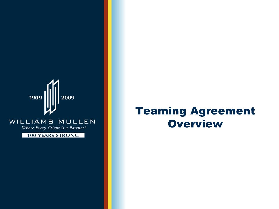 Teaming Agreement Overview