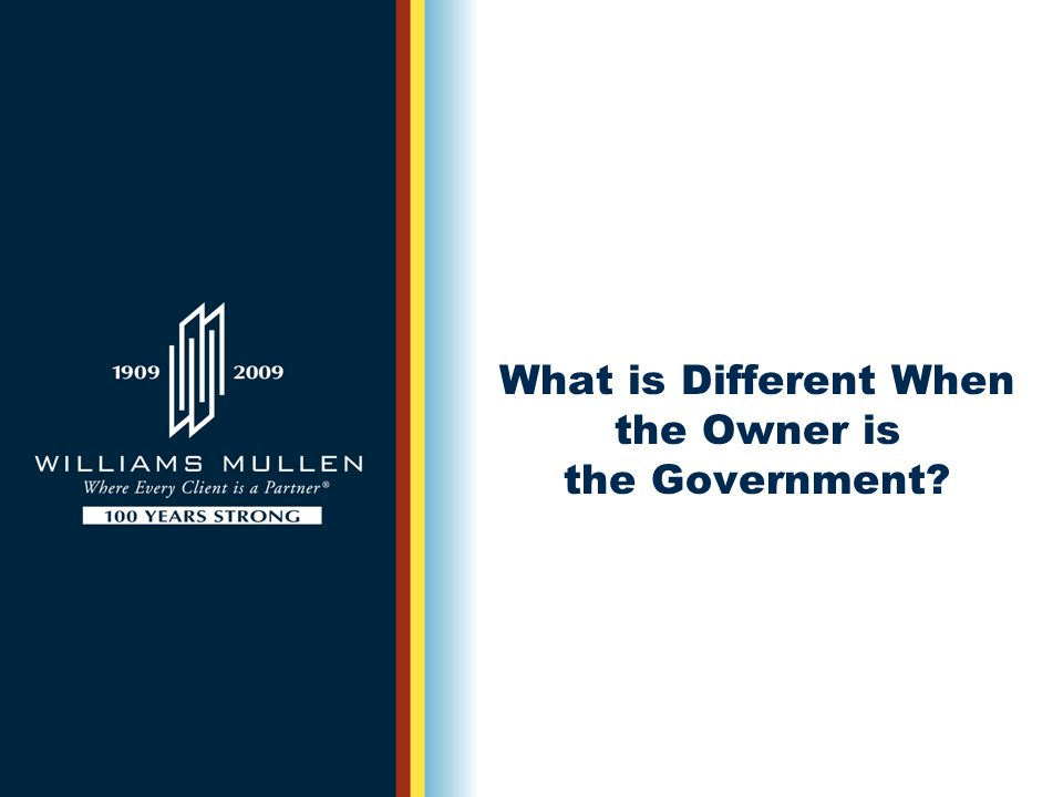 What is Different When the Owner is the Government