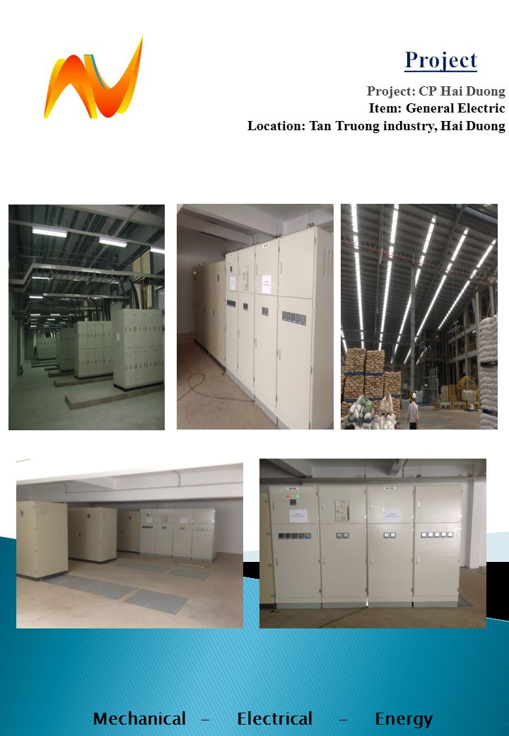 Project: CP Hai Duong Item: General Electric Location: Tan Truong industry, Hai Duong Mechanical - Electrical - Energy