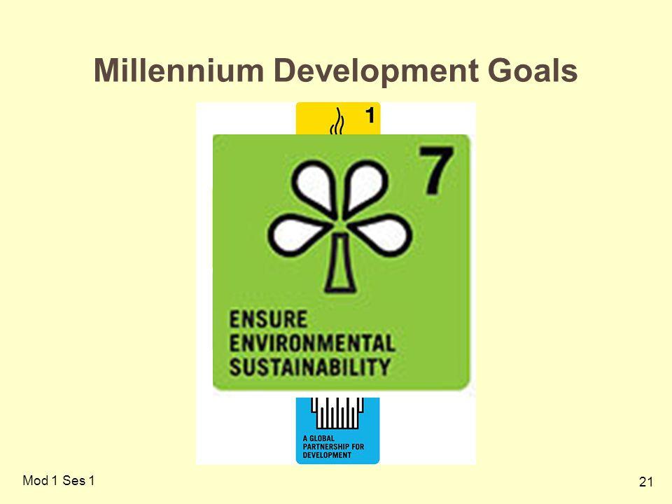 21 Mod 1 Ses 1 Millennium Development Goals