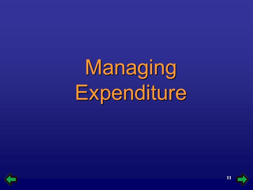 11 Managing Expenditure