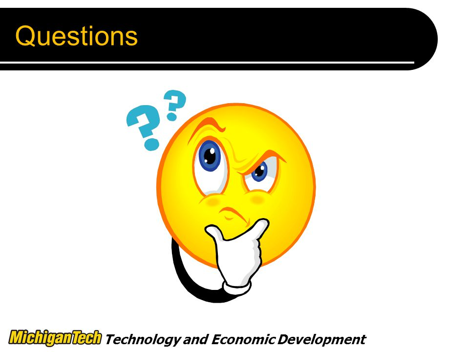 Technology and Economic Development Questions