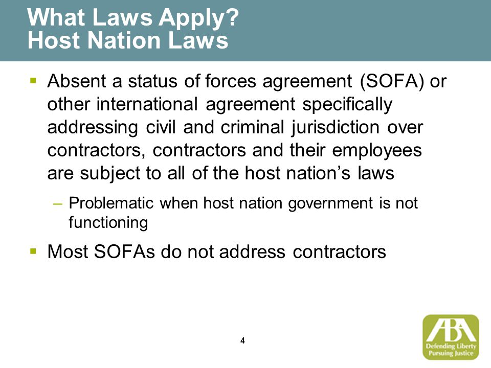 25 Civil Suits vs.Private Contractors: Available Defenses Are Contractors Otherwise Accountable.