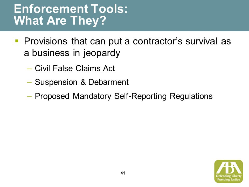 41 Enforcement Tools: What Are They.