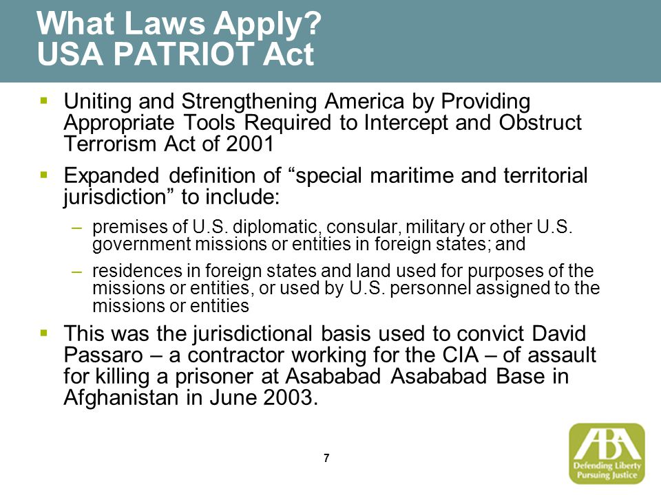 8 What Laws Apply.