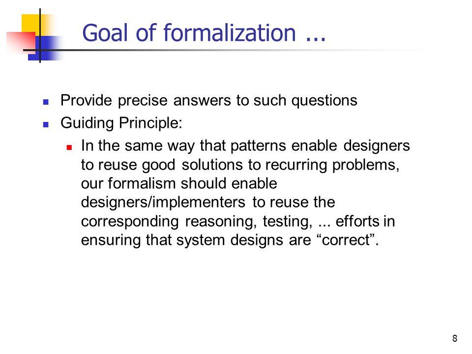 8 Goal of formalization...