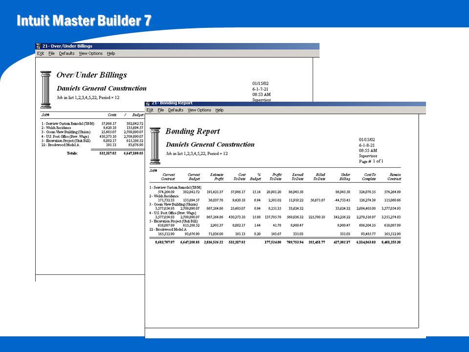 Intuit Master Builder 7